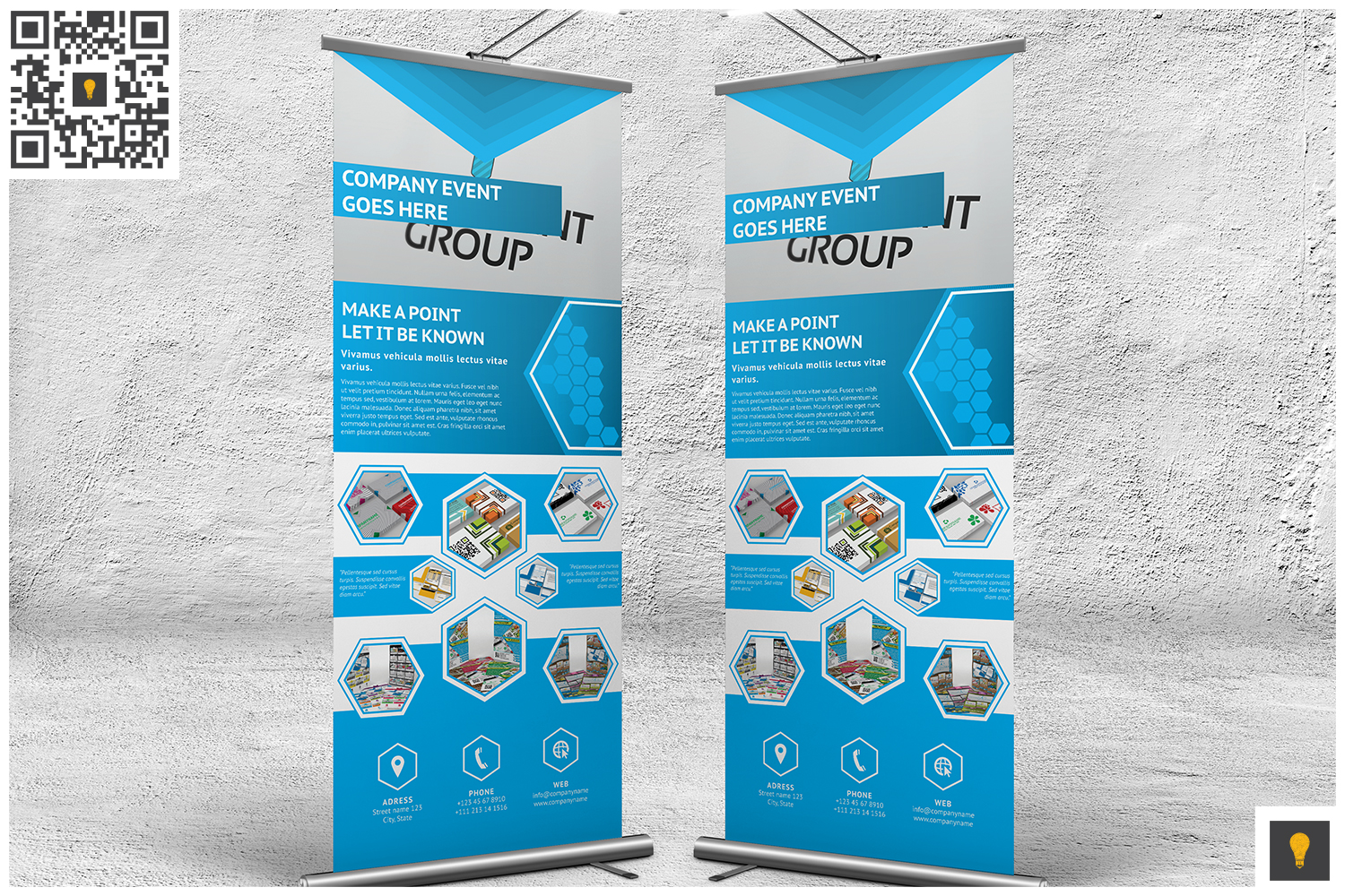 Professional Corporate Hive Roll-Up Banner example image 2