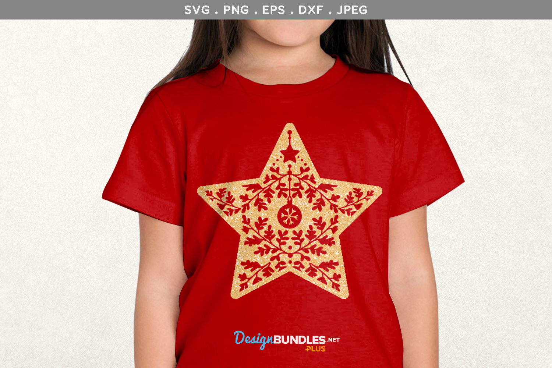 Christmas Star - svg, printable example image 1