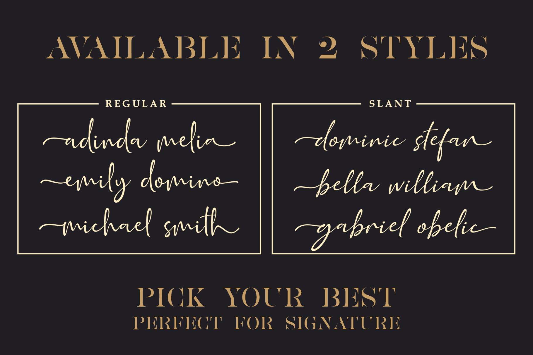 Golden Class Font Duo example image 11