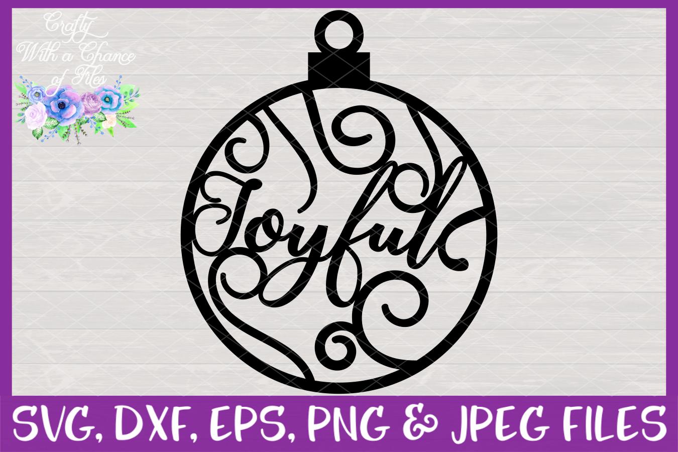 Christmas Word Ornaments SVG Christmas Flourish Baubles example image 10