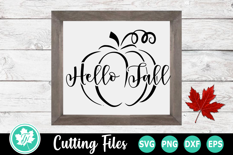 Hello Fall Pumpkin - A Fall SVG Cut File example image 2