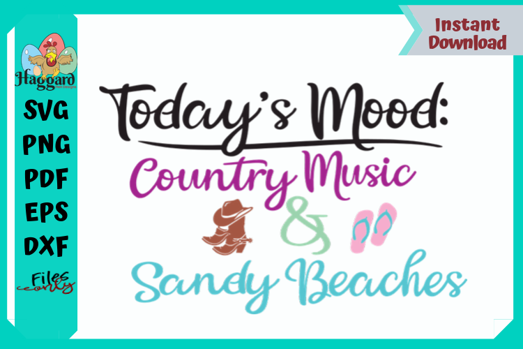 Today's Mood Country Music and Sandy Beaches example image 4