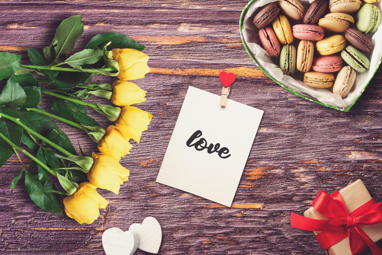 Valentine Greeting Card Mock-up #1 example image 1