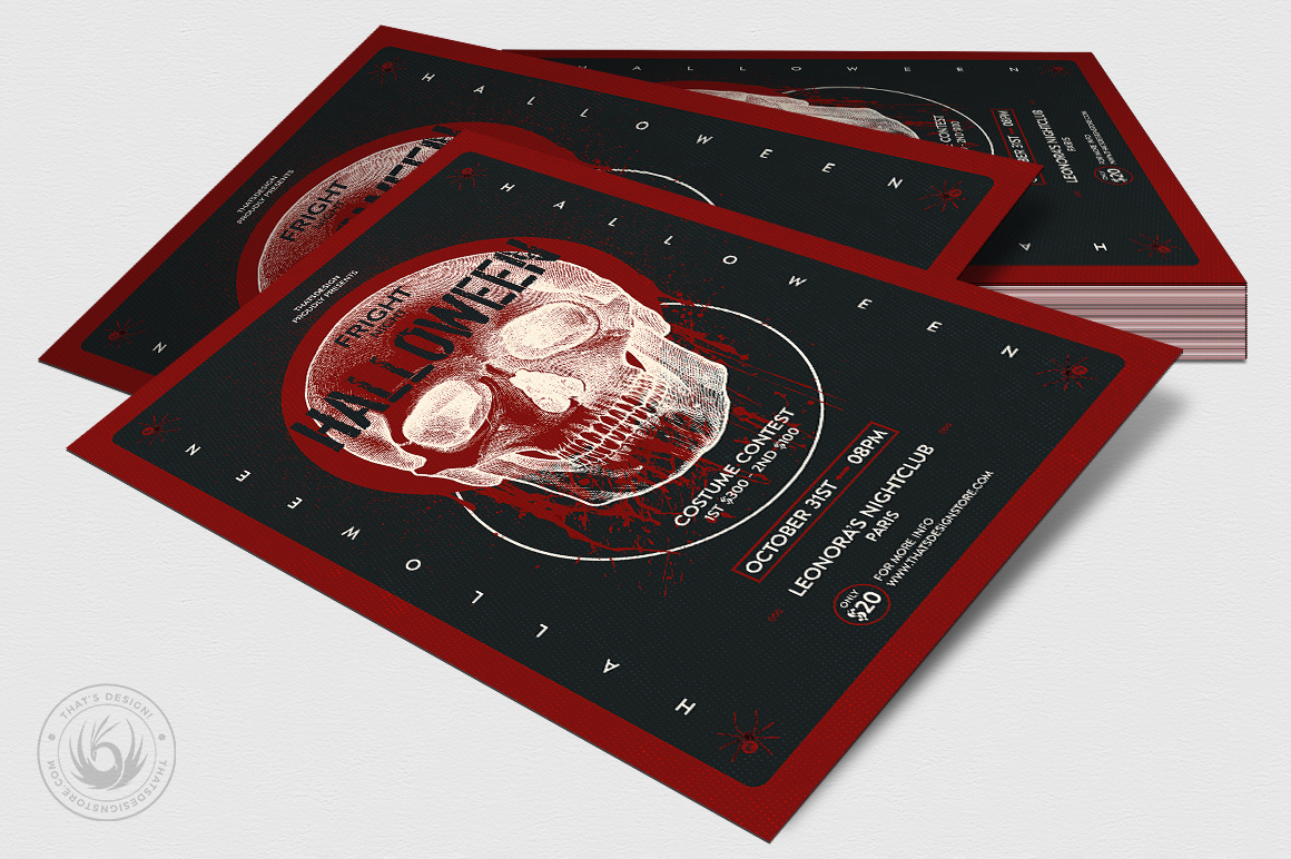 Halloween Flyer Template V25 example image 4