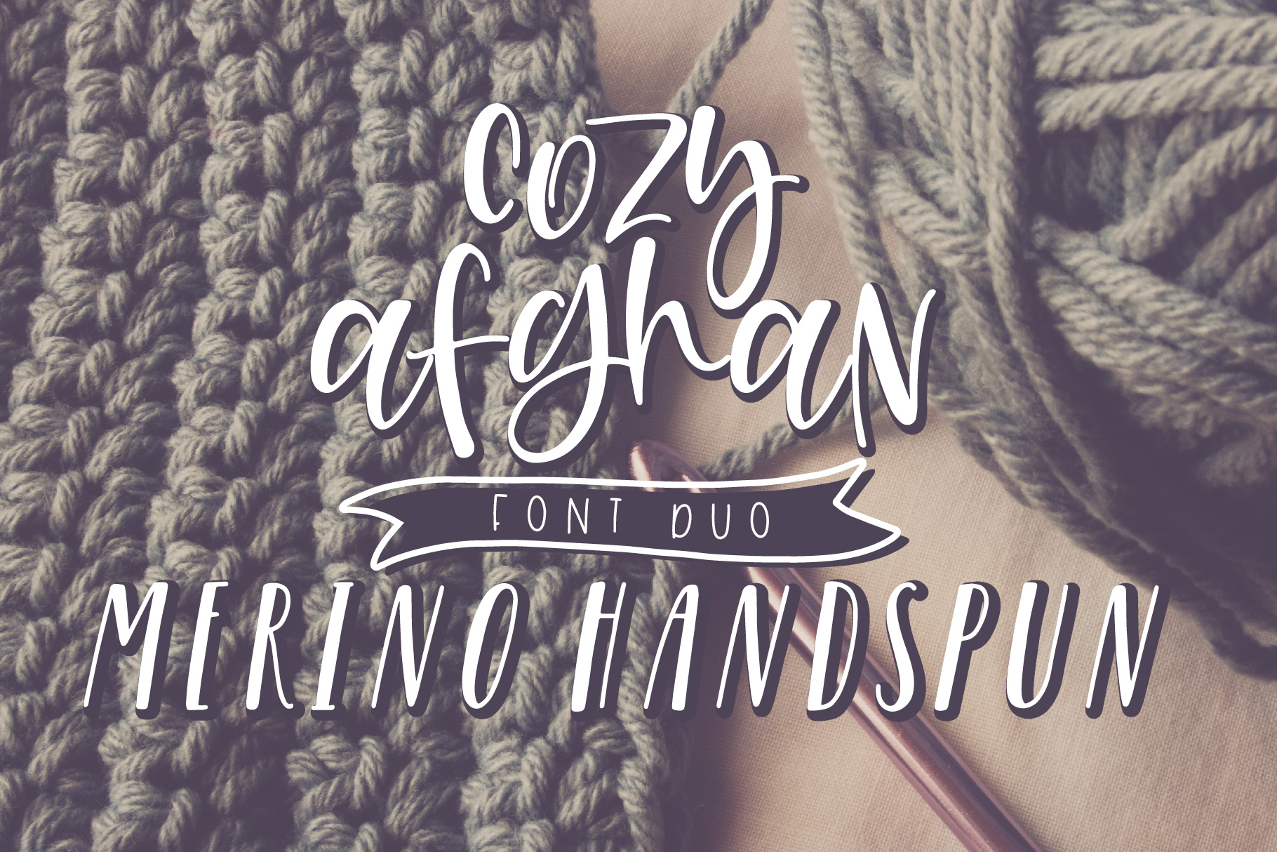 Cozy Afghan Font Duo example image 1