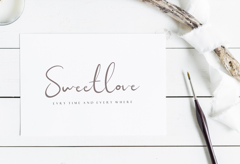Sweet Yell - A Fun Handwritting example image 4