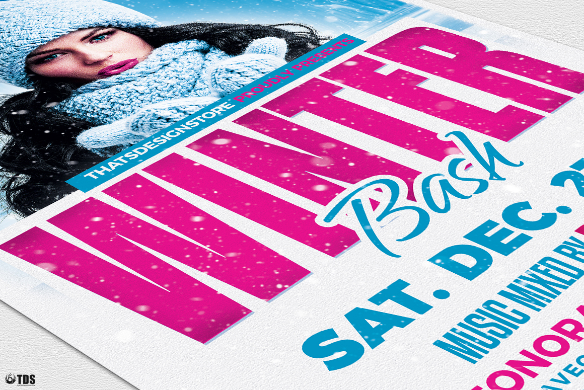 Winter Bash Flyer Template V4 example image 6