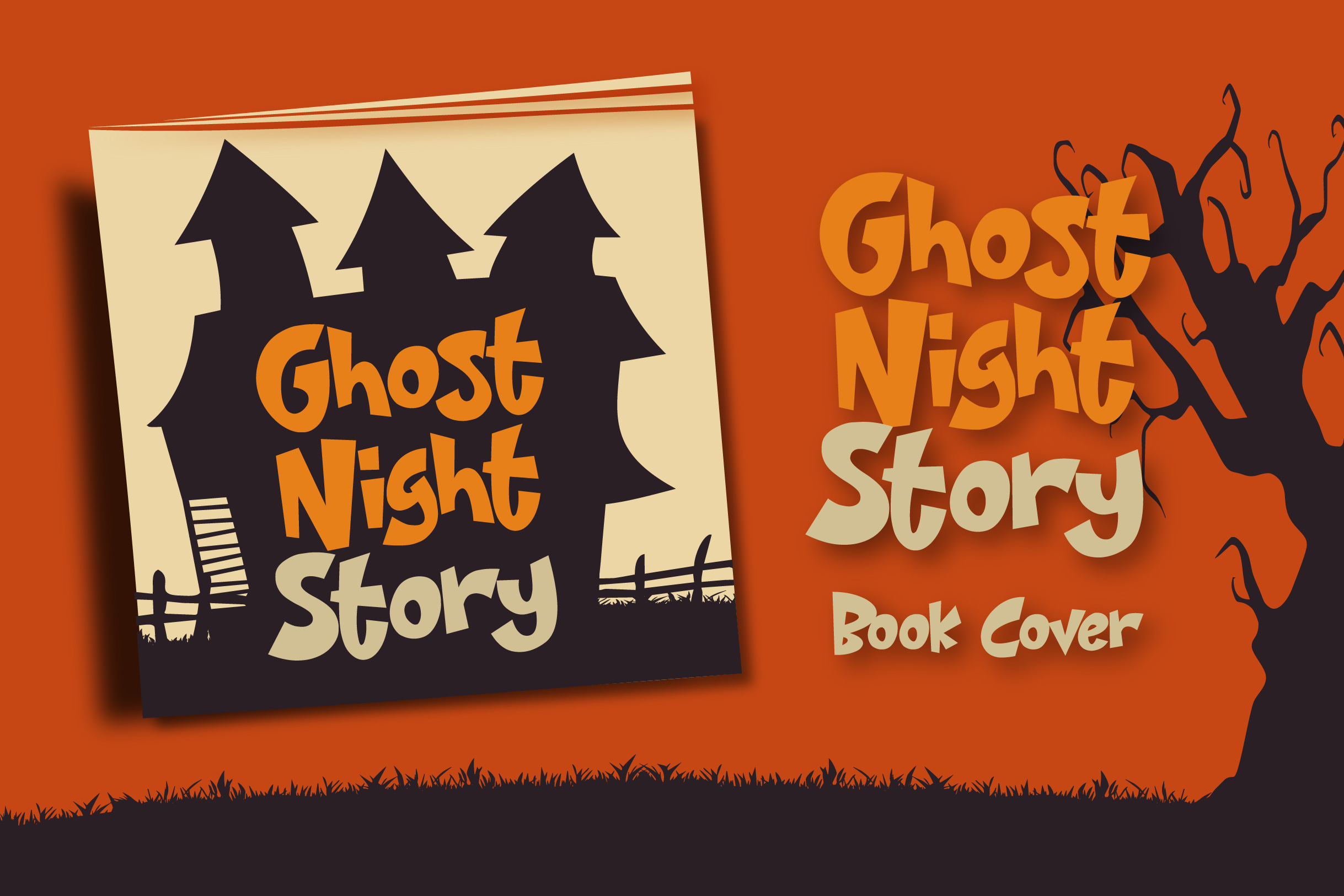 Night House - A Fun Display Font example image 5