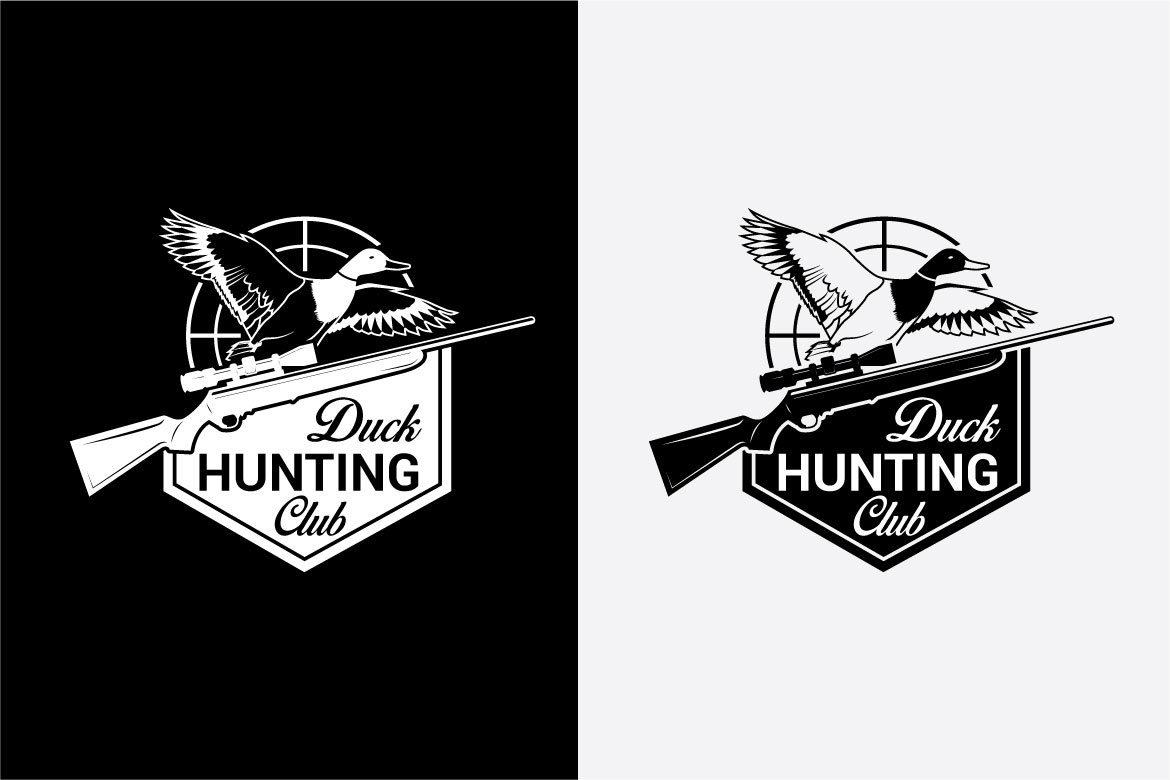 DUCK HUNTING Badges and Logo example image 5