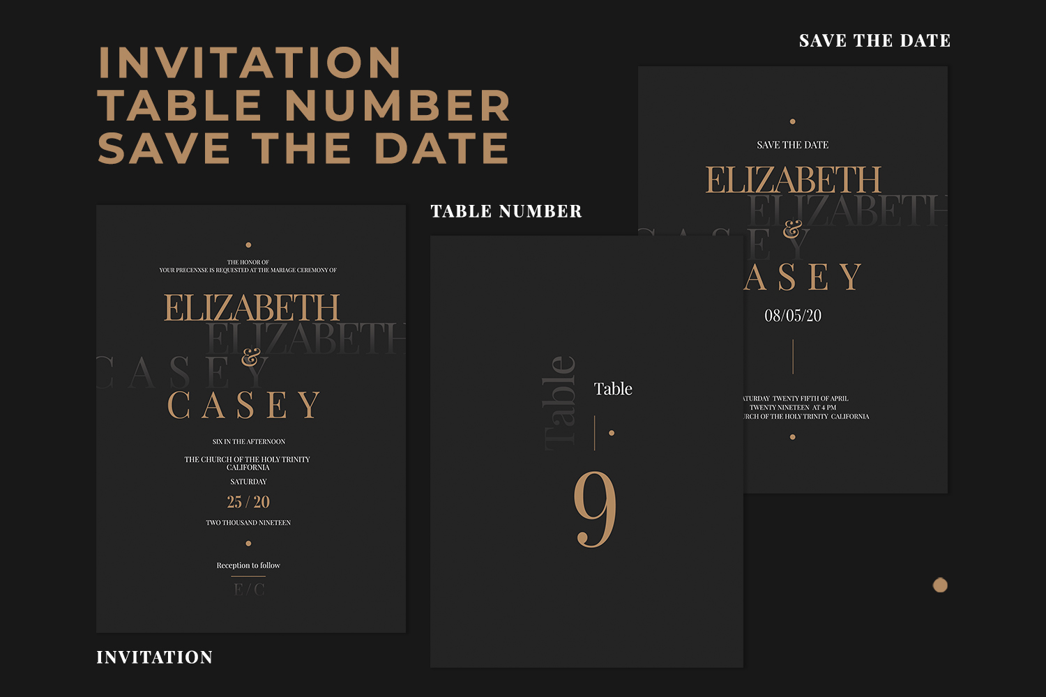 Wedding Invitation Suite - ELSEY example image 2