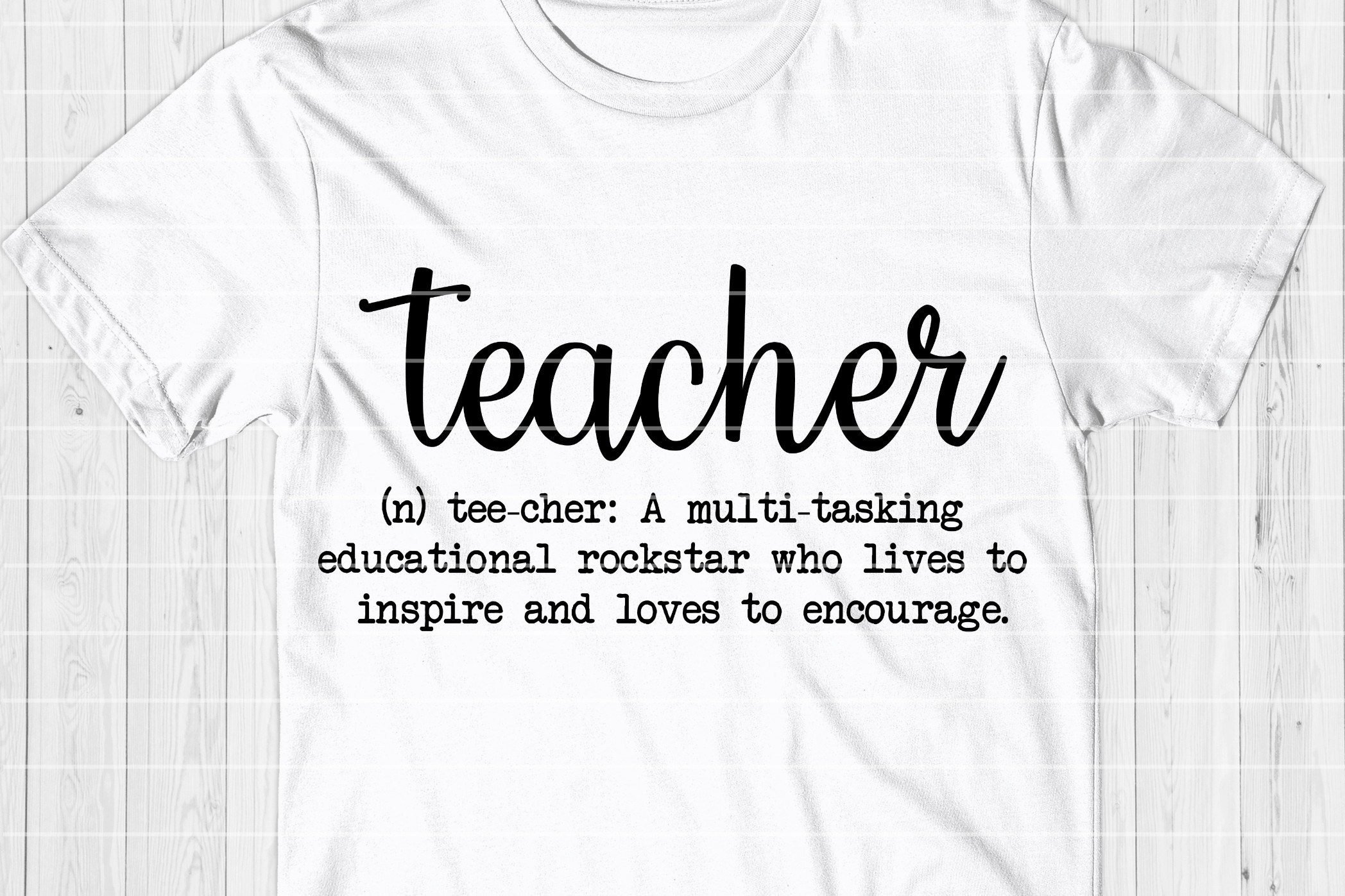 Funny Teacher Definition SVG Cut File - Back To School SVG example image 1