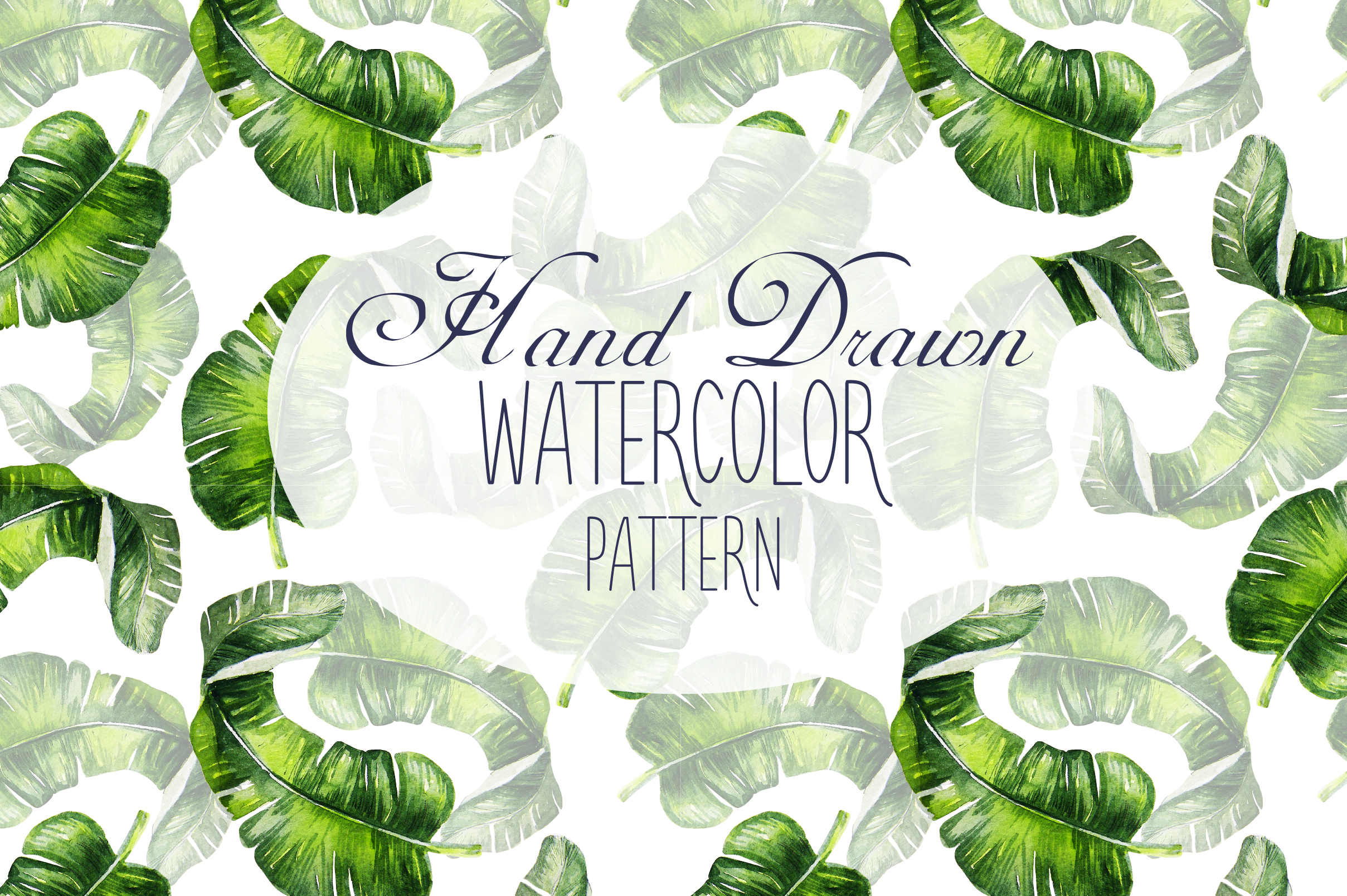 16 Hand Drawn Watercolor Pattern example image 1