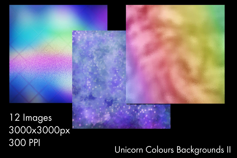 Unicorn Colours Backgrounds II - 12 Image Set example image 2