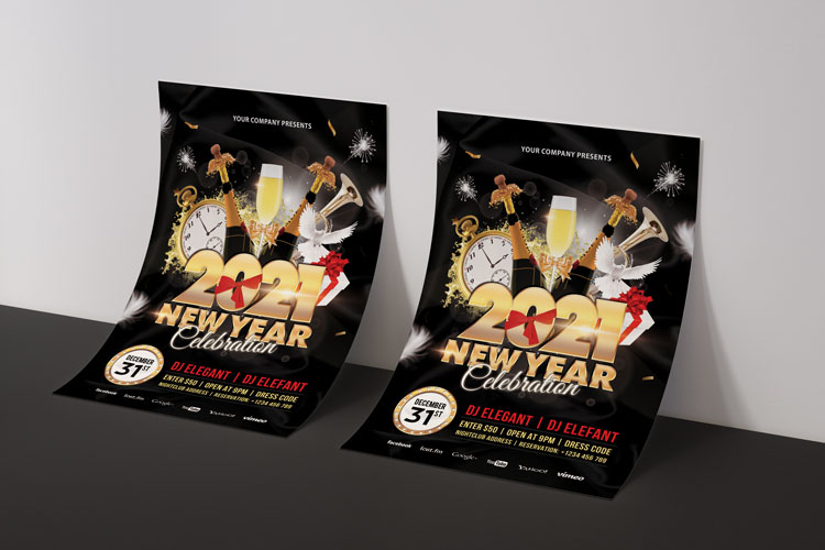 NEW YEAR PARTY FLYER 3 example image 4
