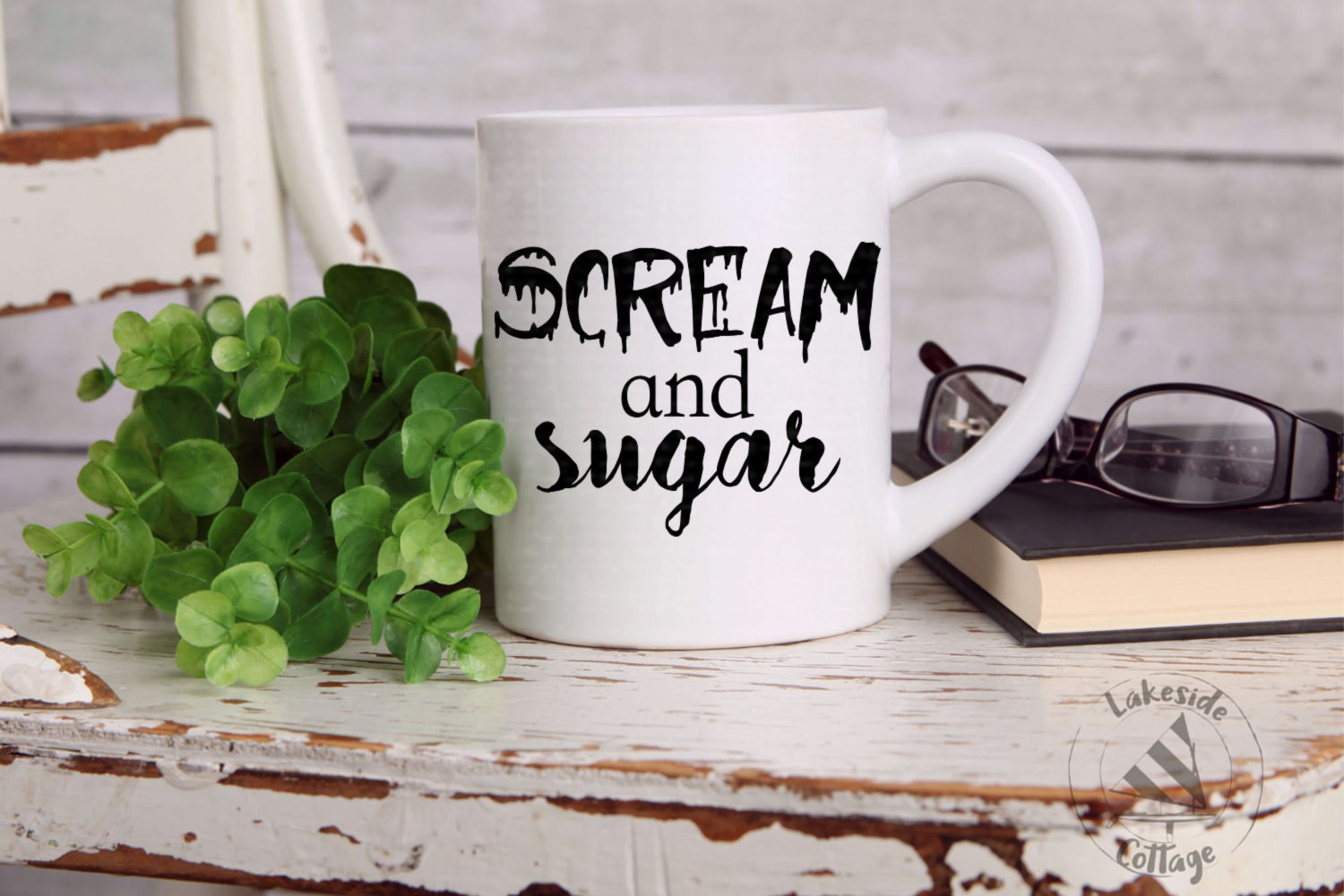 Scream and Sugar Coffee and Tea Halloween SVG Design example image 2