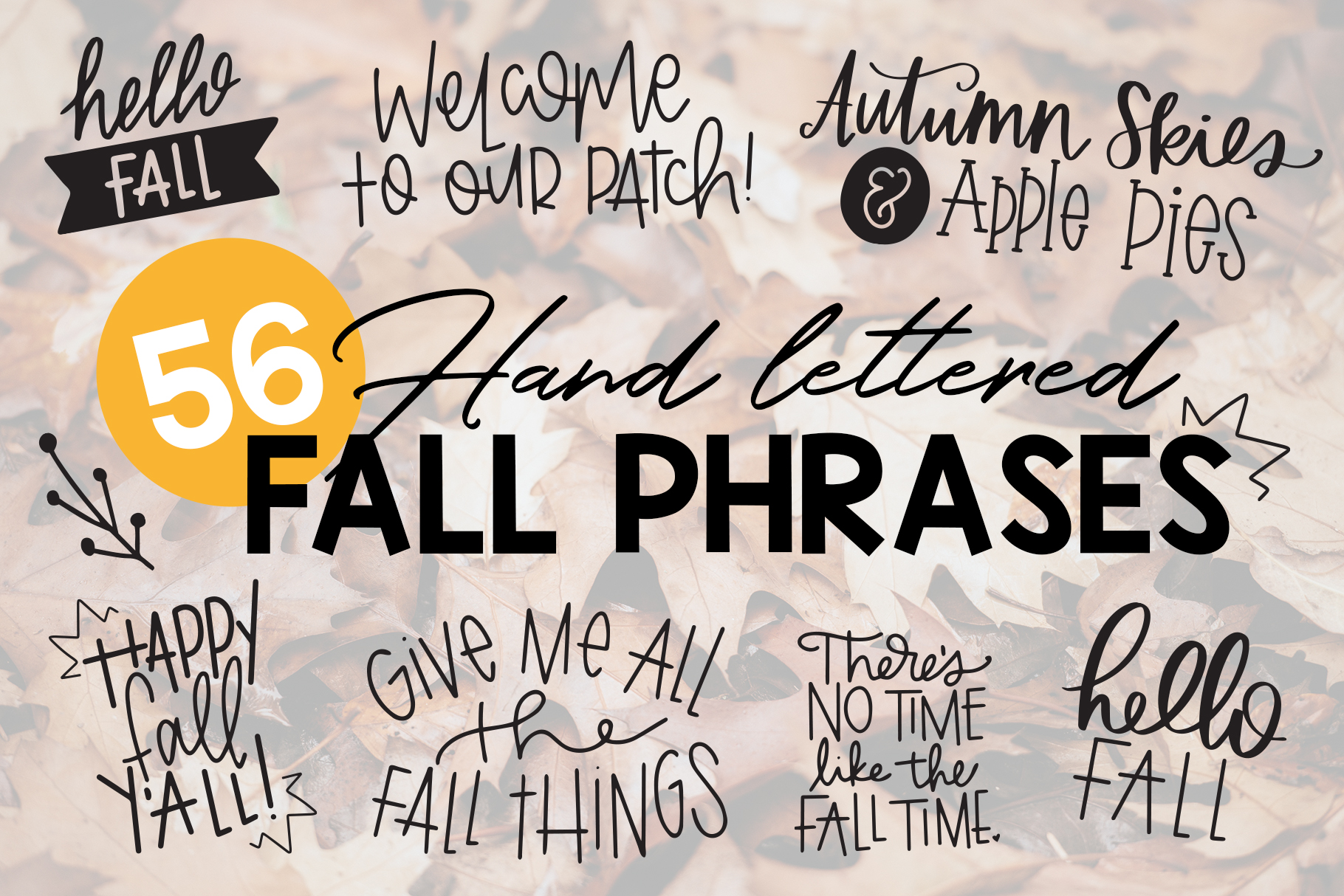 Fall Phrases Symbols Font example image 1
