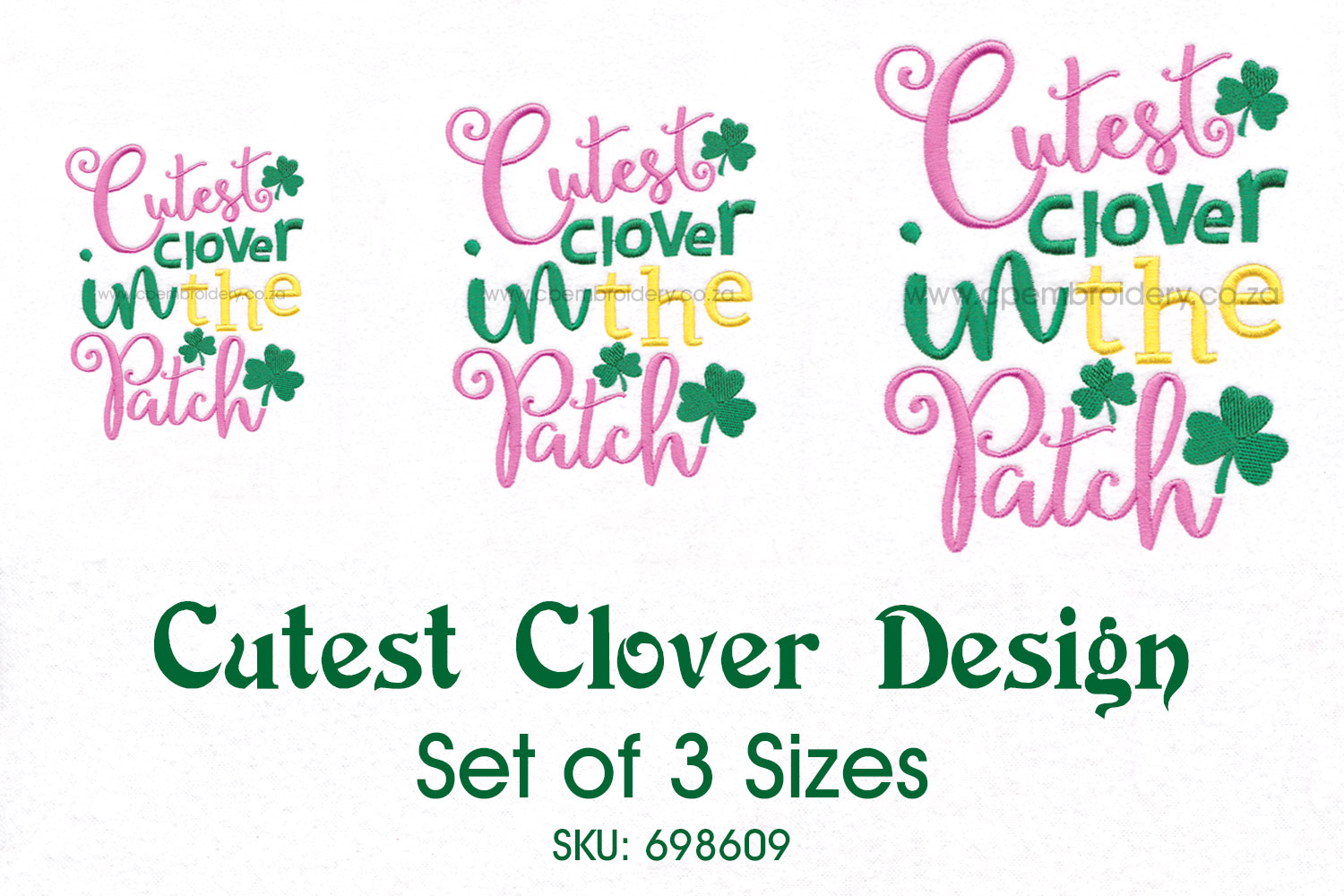 Cutest Clover in the Patch St Patrick's Day Design example image 2