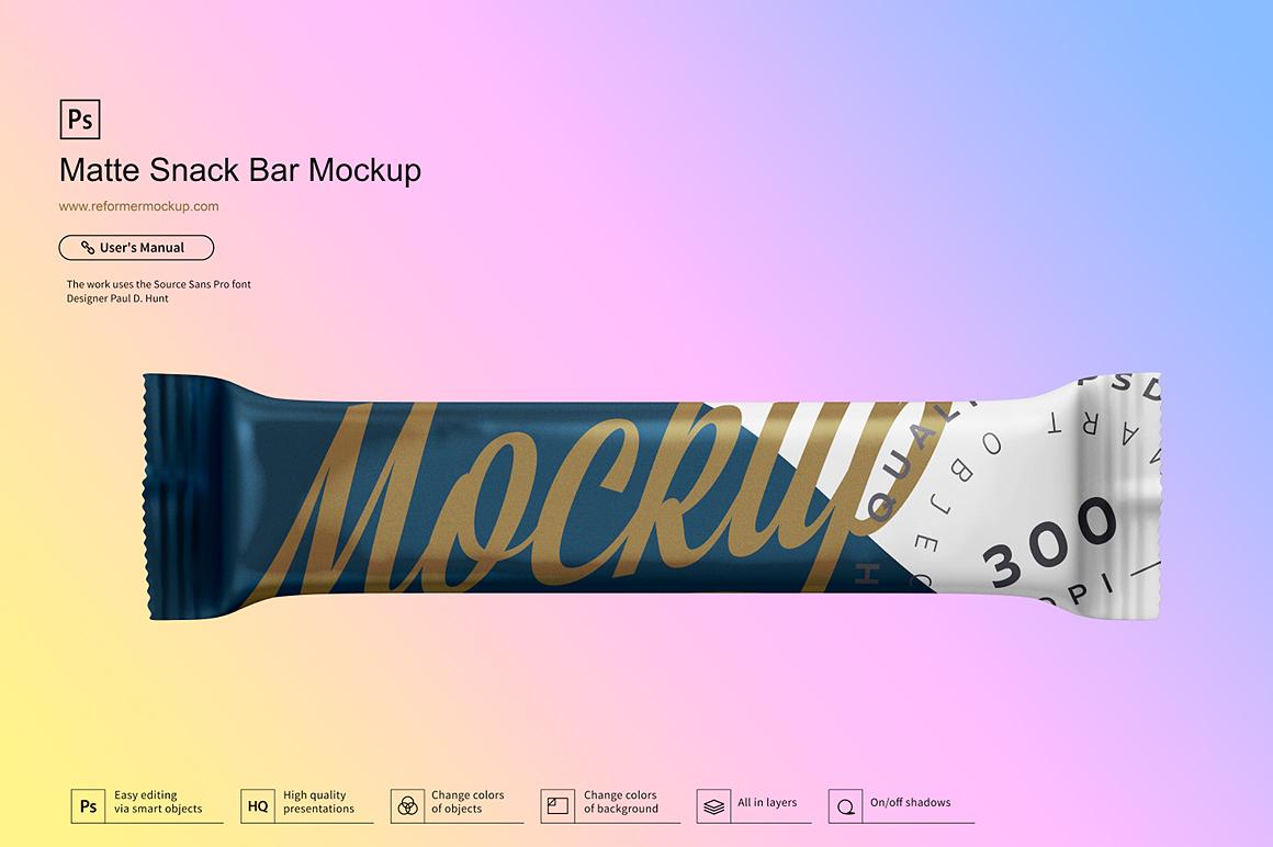 Matte Snack Bar Mockup example image 5