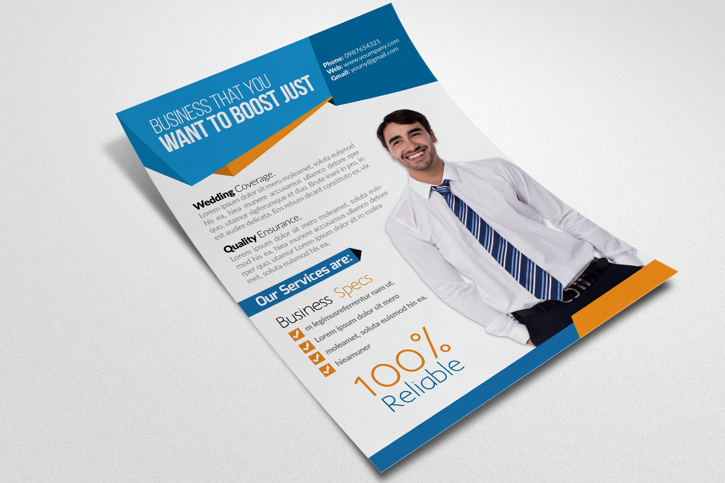 Corporate & Business Flyers Templates example image 2