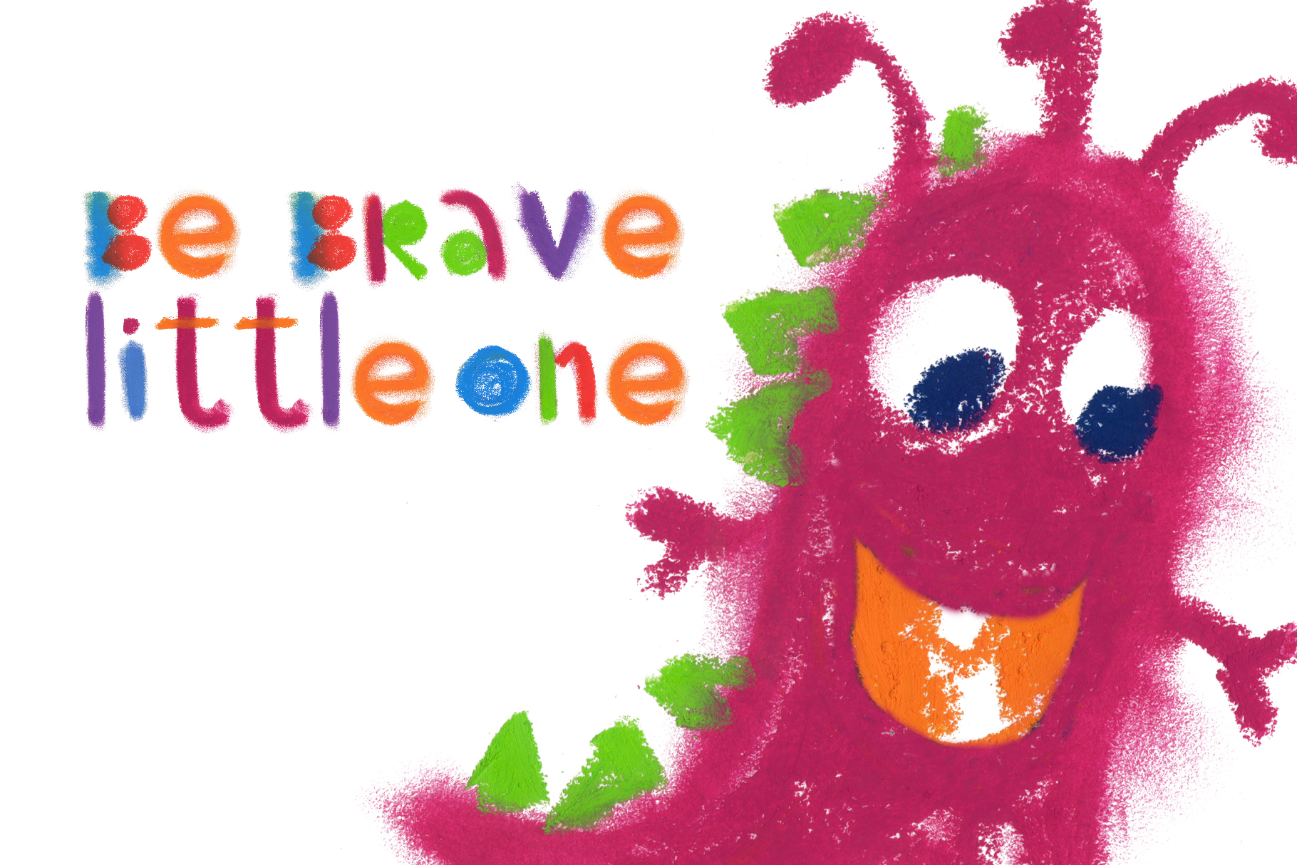 """Little monster"" bitmap color font example image 4"