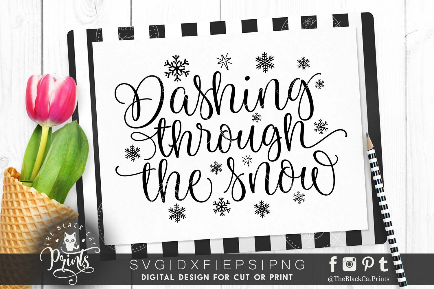 Dashing through the snow SVG DXF PNG example image 1
