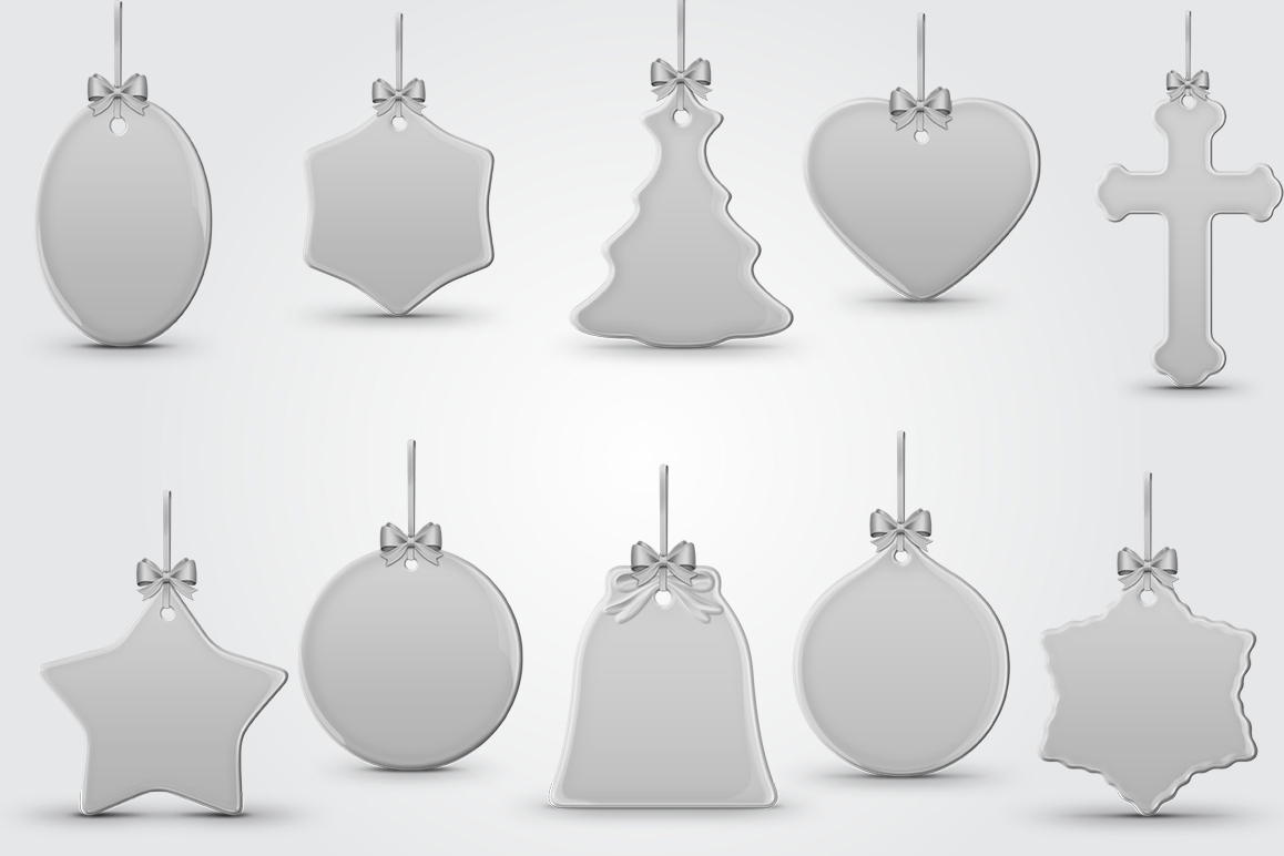 Christmas Ornaments Mockups Pack example image 3