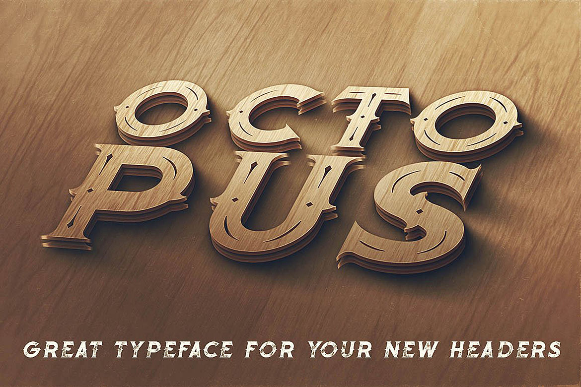Octopus - Vintage Style Font example image 5