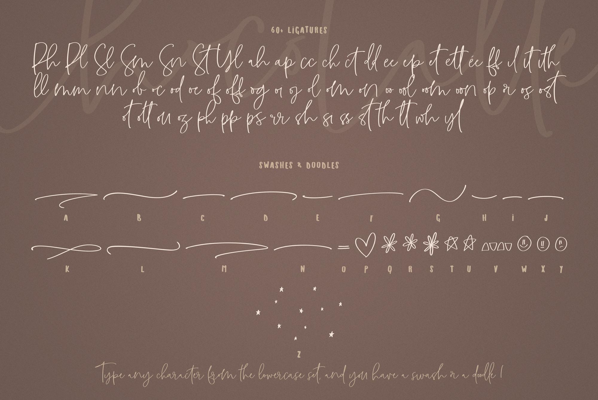 ChocoLatte Handwritten Script Font example image 6