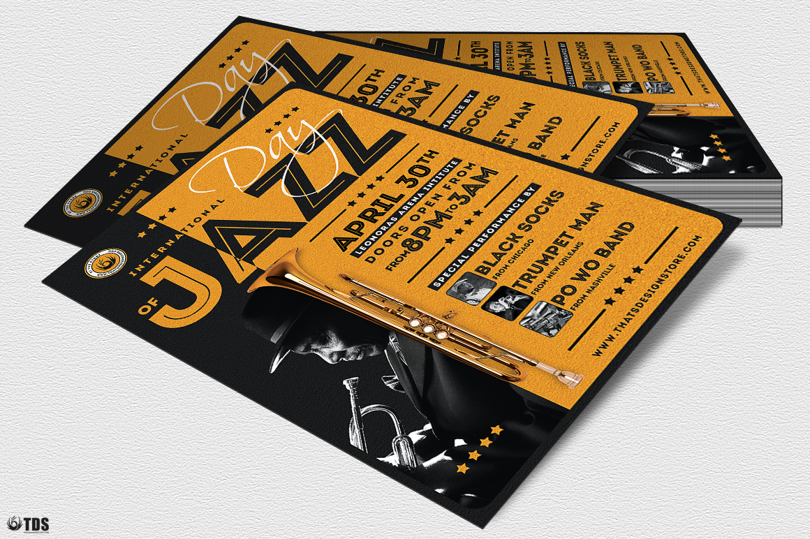 Jazz Day Flyer Template V1 example image 4