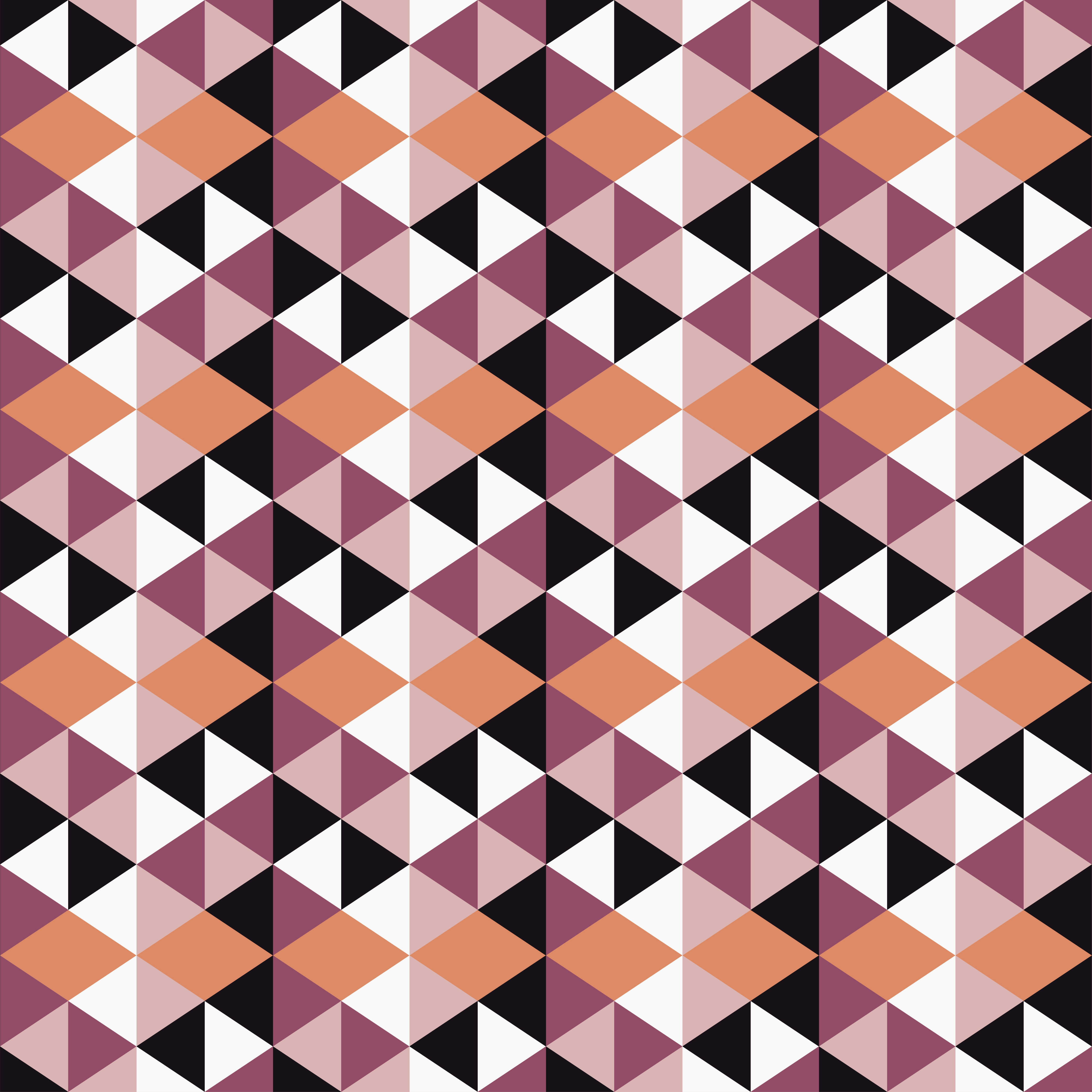 Mosaic seamless pattern. Background made of triangles. Vector illustration. Textile rapport.  example image 1