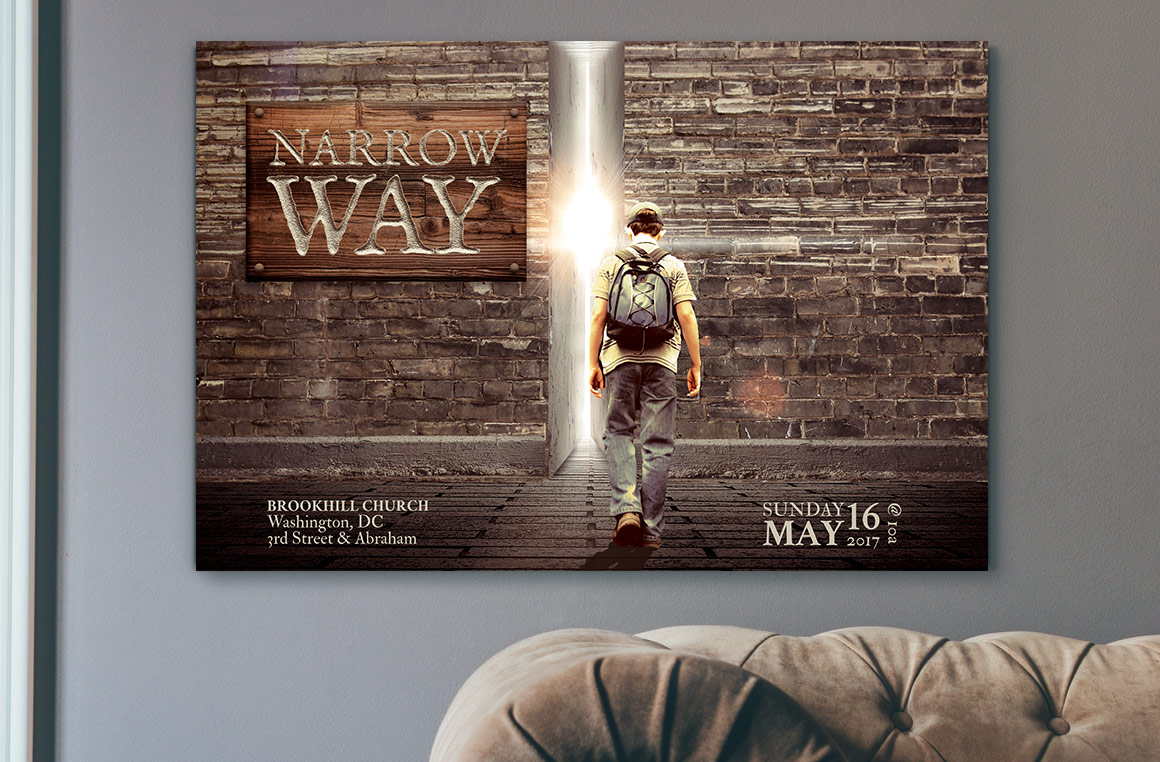 Narrow Way Flyer Poster Template example image 4