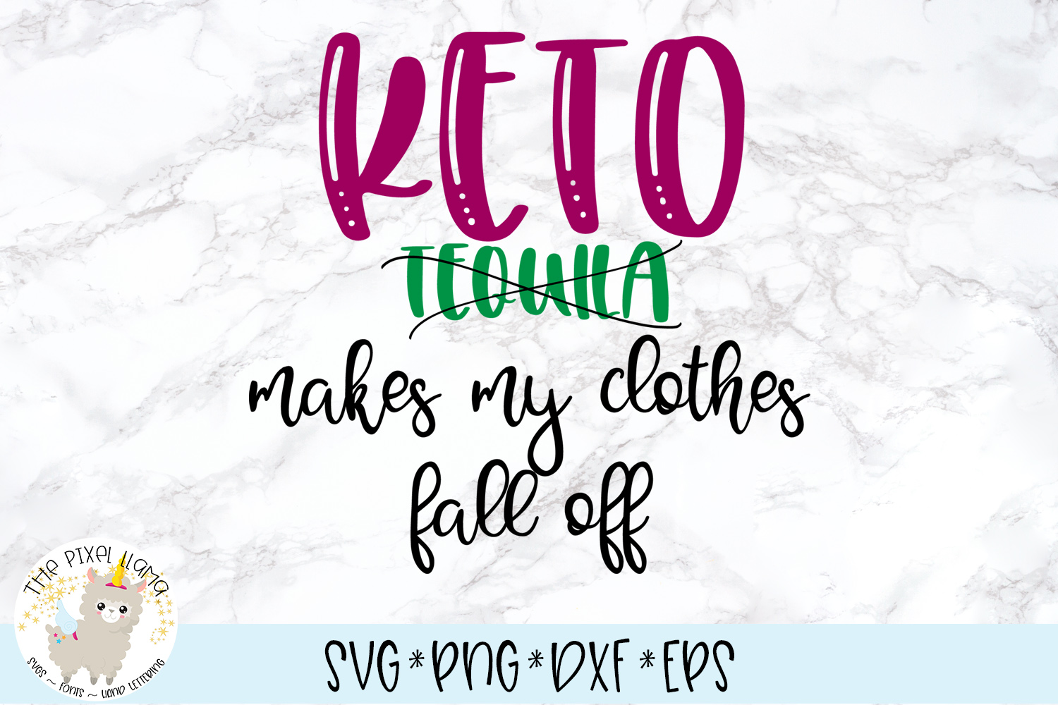 Keto Makes My Clothes Fall Off SVG Cut File example image 2