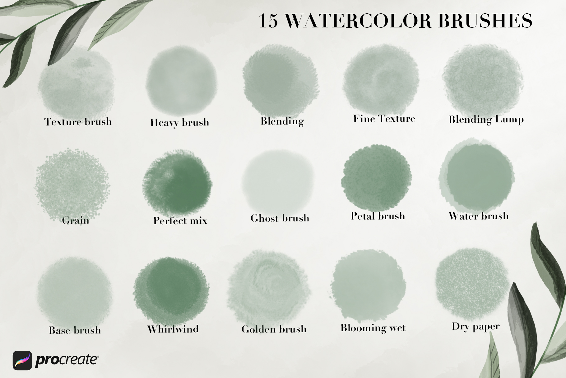 Aqua Studio Watercolor brushes example image 2