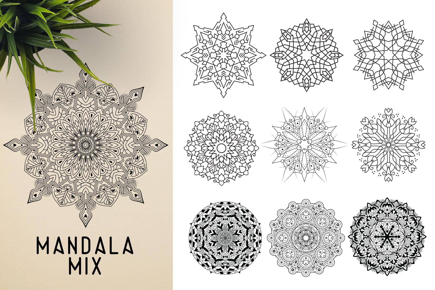 300 Vector Mandala Ornaments example image 26