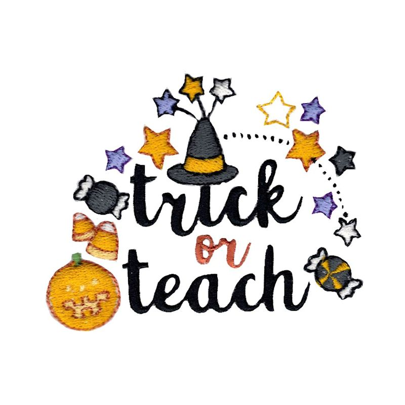 Halloween Sentiments Four - 12 Machine Embroidery Designs example image 11