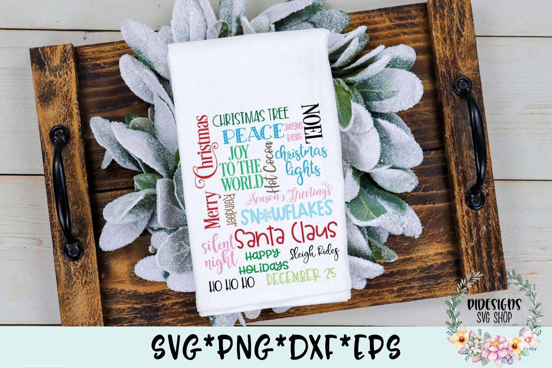 Christmas Subway Word Art SVG Cut File example image 3