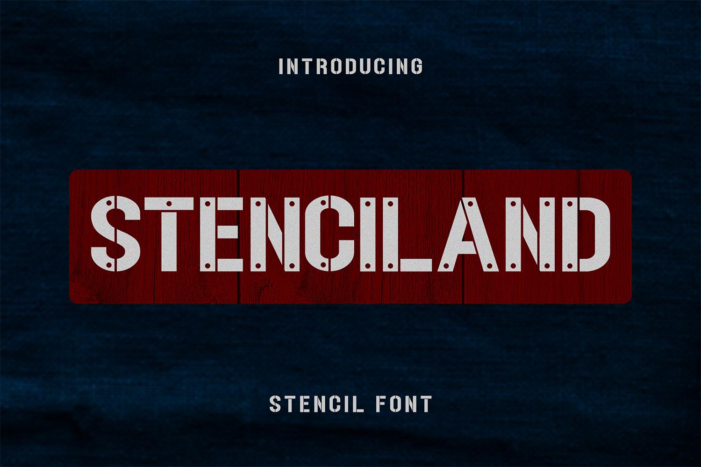 STENCILAND FONT example image 1