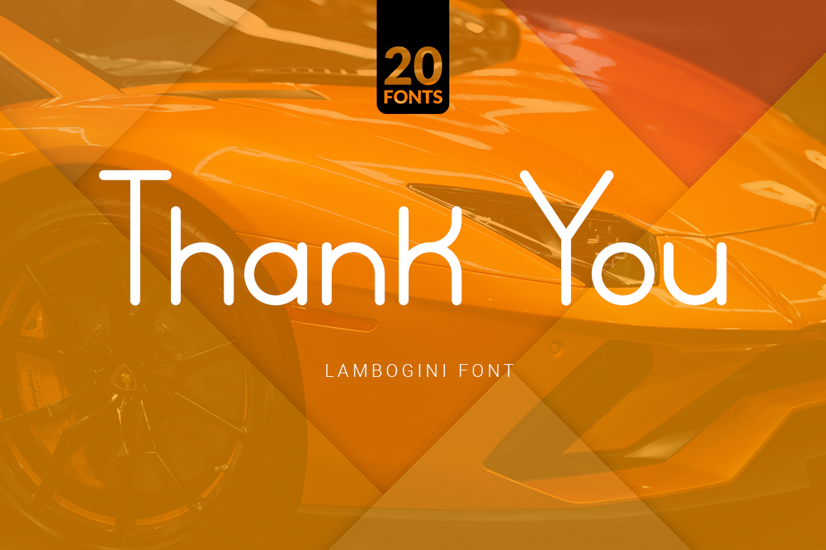 Lamborgini - 20 Fonts Included example image 10