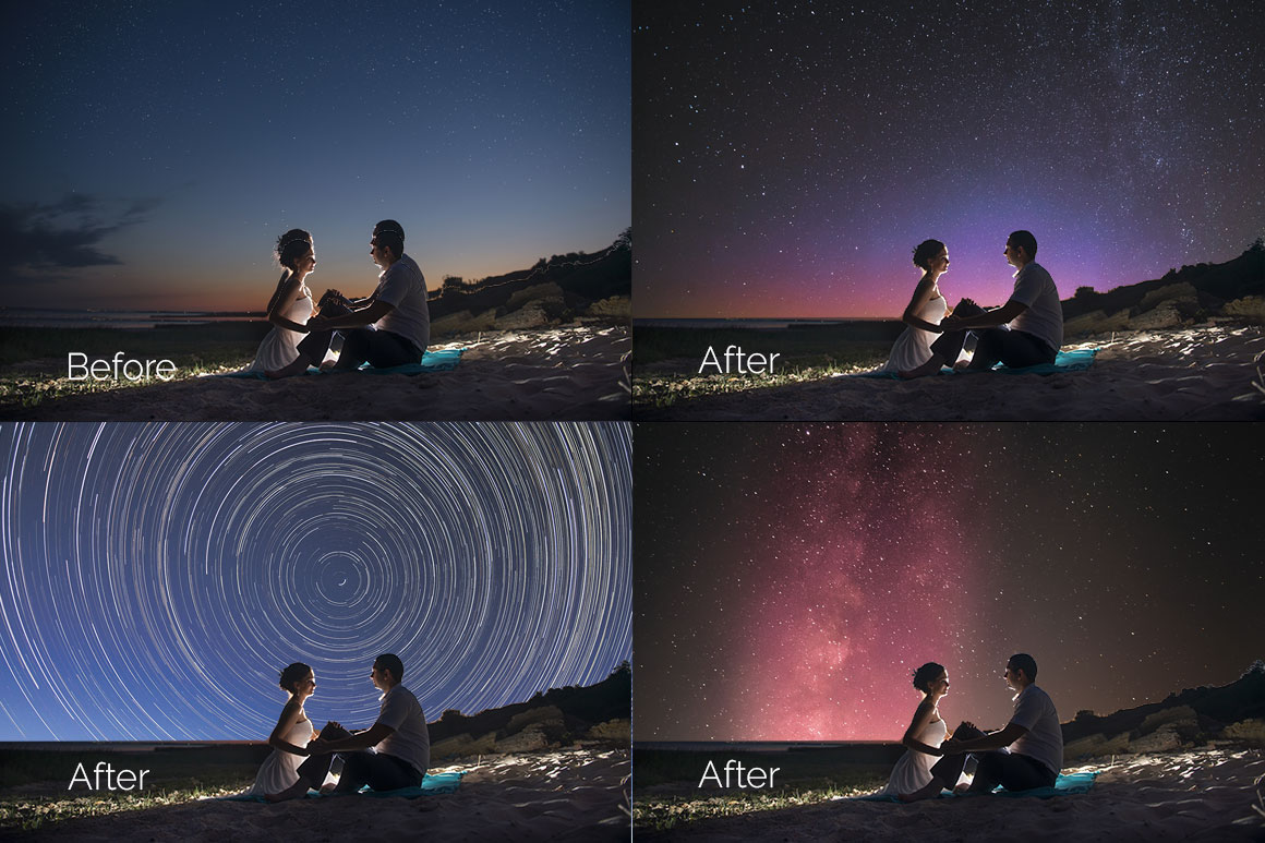 52 Starry Sky Photoshop Overlays example image 3