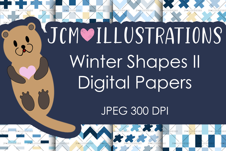 Winter Shapes II - Digital Papers - Digital Scrapbook Papers example image 1