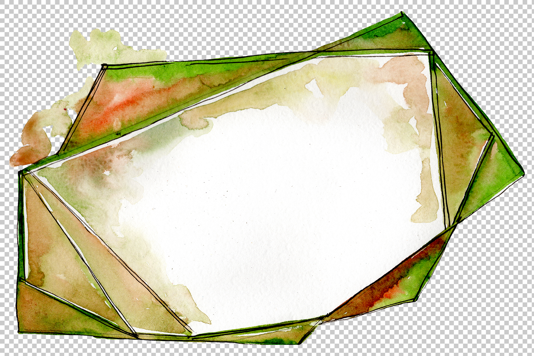 Tourmaline crystals Watercolor png example image 2