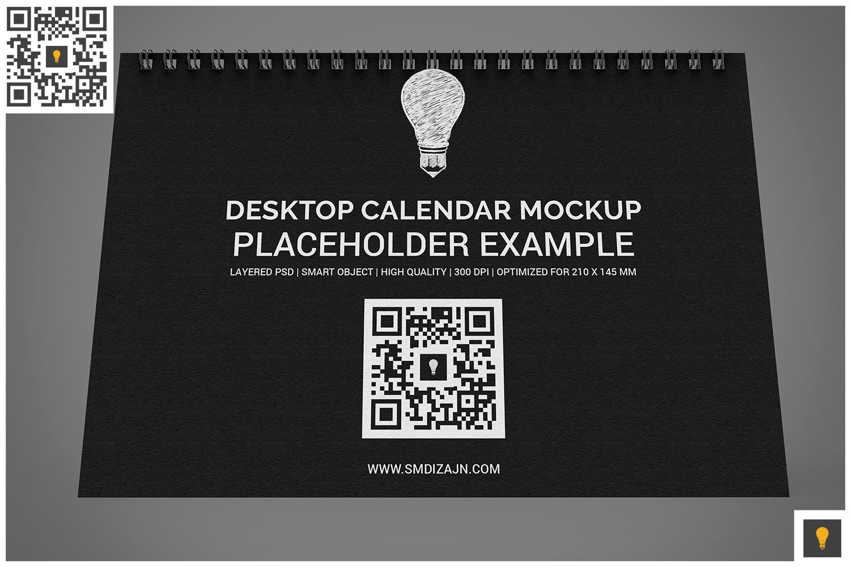 Desktop Calendar Mockup example image 4