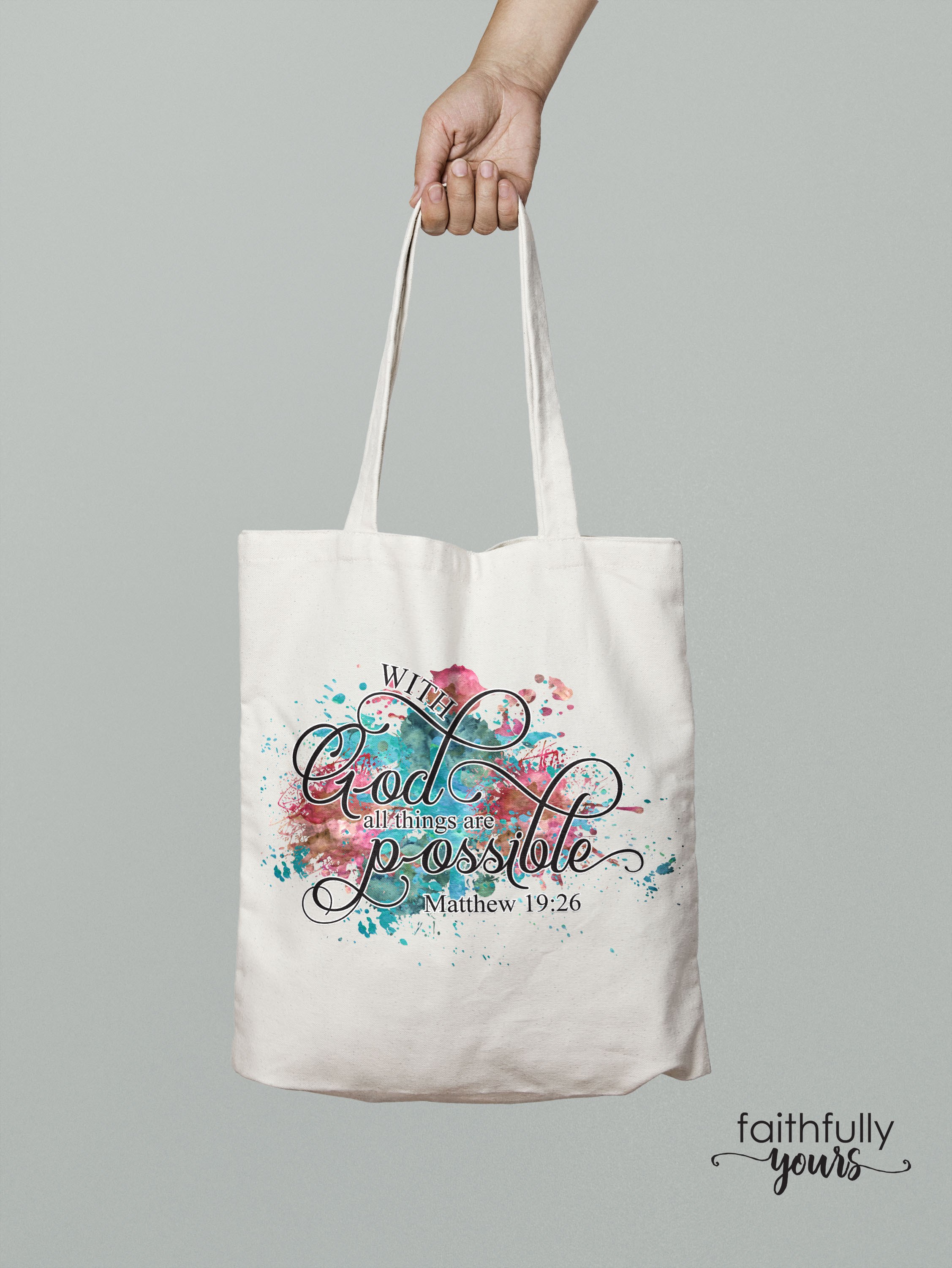 With God, all things are possible! Sublimation Design PNG example image 4