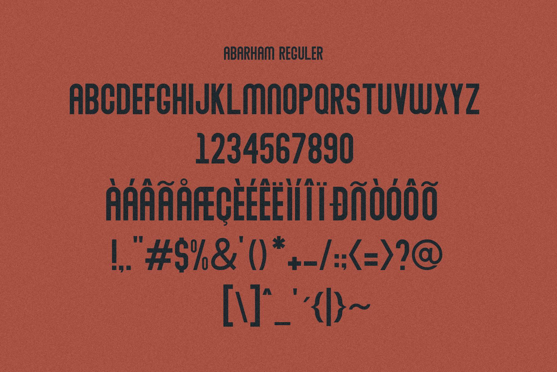 Abraham Font Family 7 Style Fonts example image 6