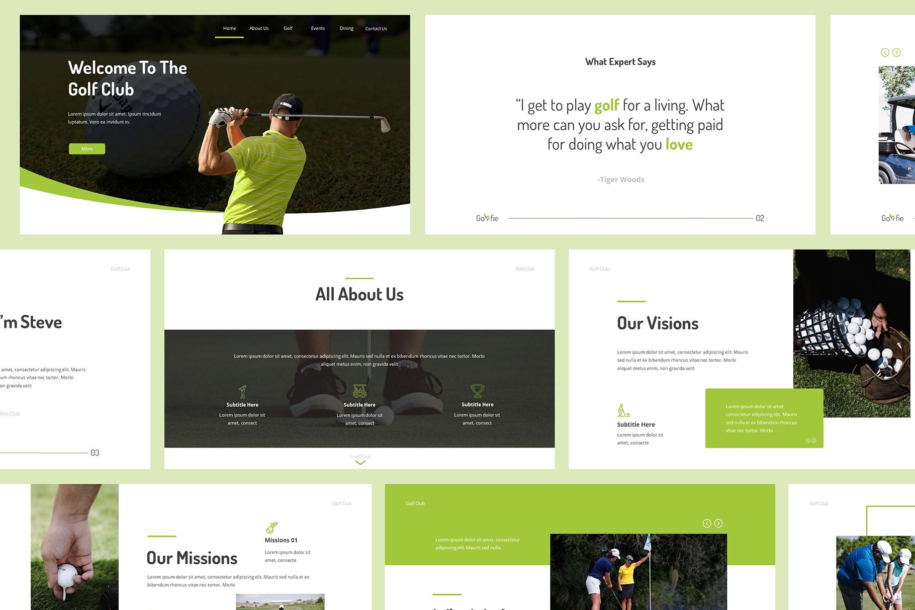 Golfie Golf Keynote Presentation example image 2