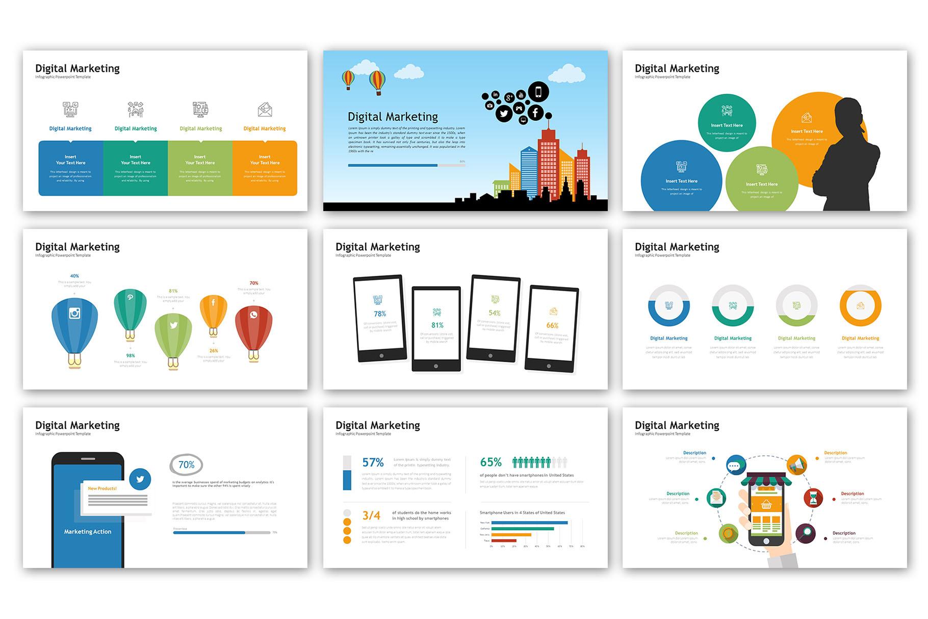 Digital Marketing Presentation - Infographic Template example image 2