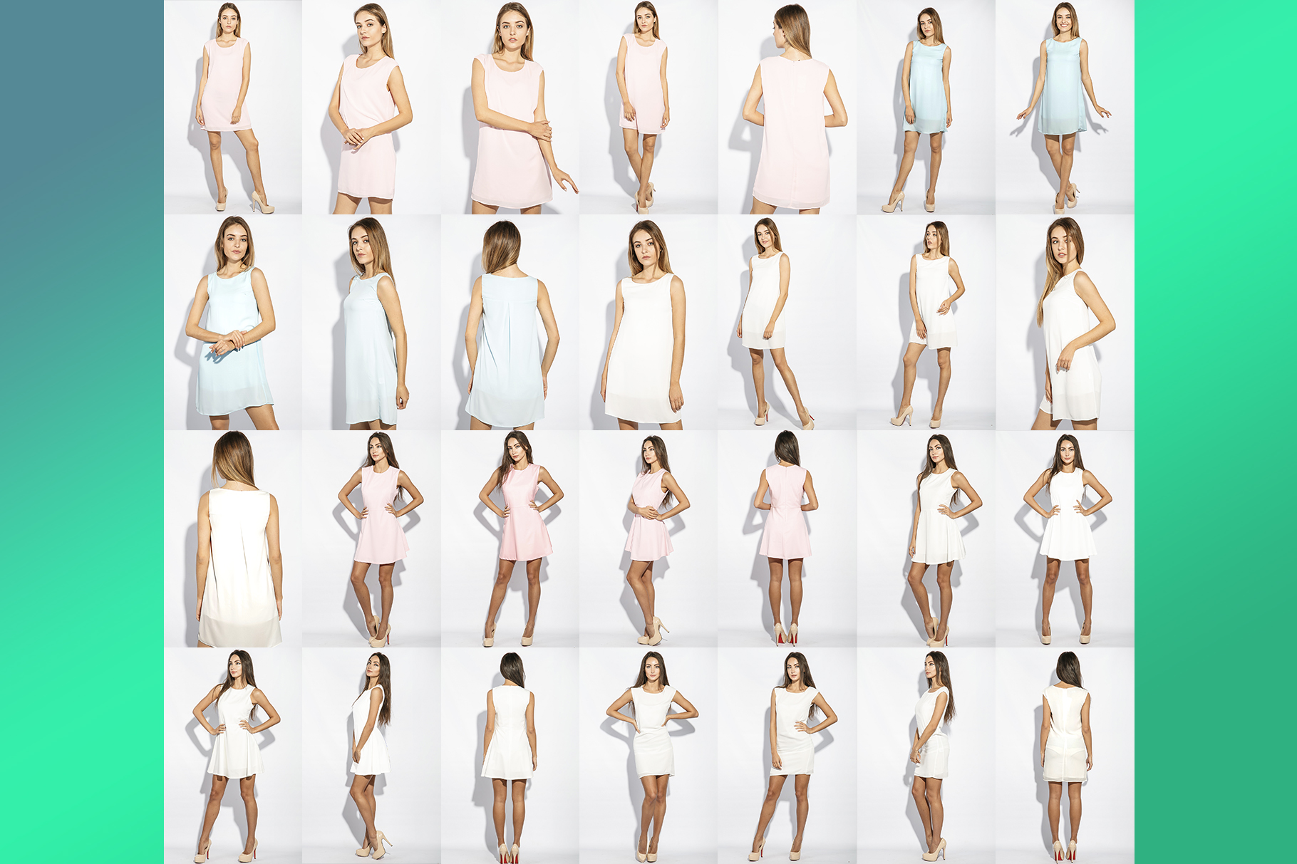 Woman's Dress Mockup Set example image 4