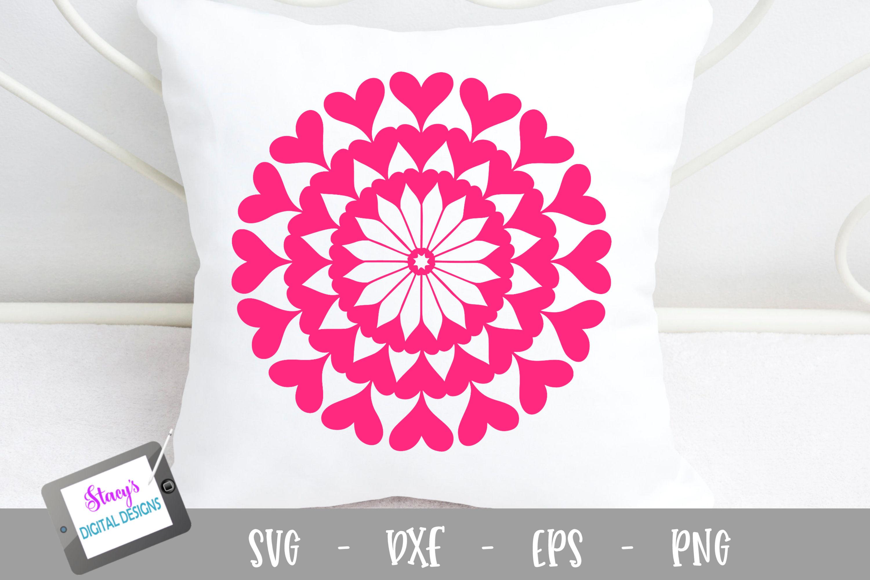 Mandala SVG - Heart mandala svg example image 1
