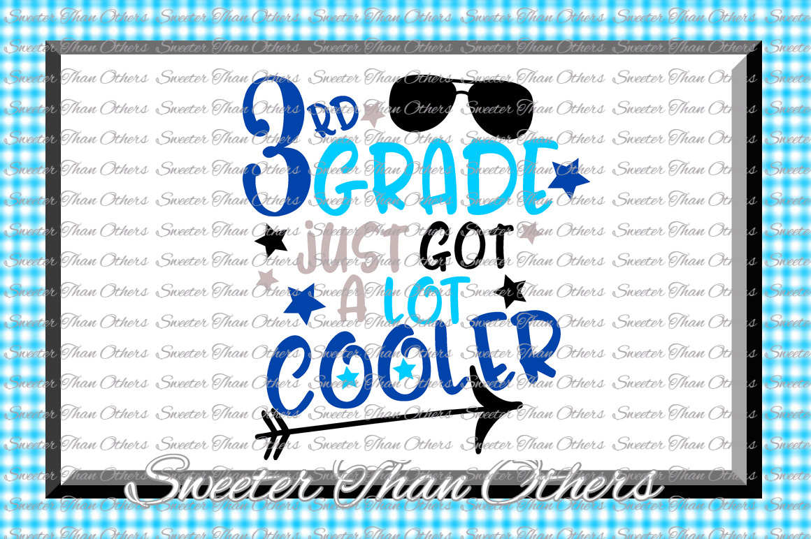Third Grade Cooler SVG 3rd Grade cut file Last Day of School example image 1