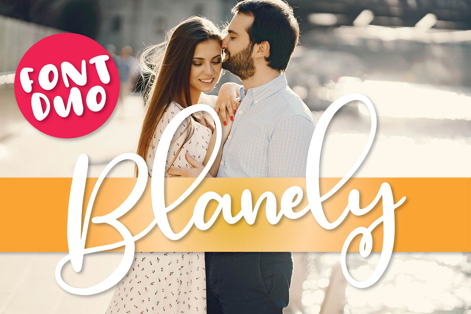 Blanely - A Script & Print Font Duo - Font Pair example image 1